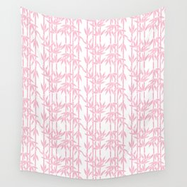Bamboo Rainfall in Blushing Bride Wall Tapestry