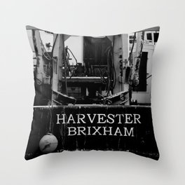 Harvester Brixham Fishing Boat Throw Pillow