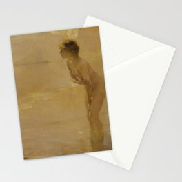 September Morn by Paul Chabas Stationery Cards