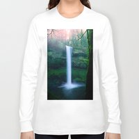 waterfall Long Sleeve T-shirts featuring Waterfall by Ian Bevington