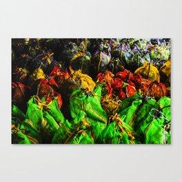 Tea Bags in Sri Lanka Canvas Print