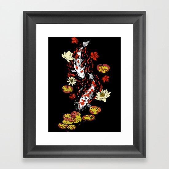 FALLING FISHES Framed Art Print