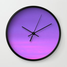 Pink and purple sky a winter morning Wall Clock