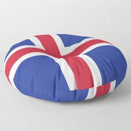 Iceland flag emblem Floor Pillow