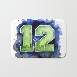 12th Man Seahawks Seattle Go Hawks Art Bath Mat