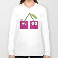 cherry Long Sleeve T-shirts featuring CHERRY by Riot Clothing