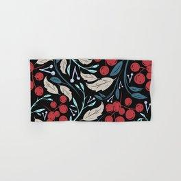 Holiday Holly and Mistletoe Pattern Hand & Bath Towel