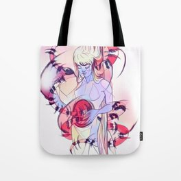 Surreal snake mother woman Tote Bag