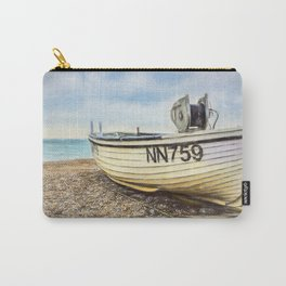 Fishing Boat On Shingle Carry-All Pouch