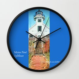 Mission Point Lighthouse Wall Clock