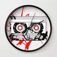 tape Wall Clocks featuring tape by Sean McFadyen