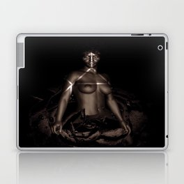 Black Queen Artistic Nude African American Woman  Rose  Laptop & iPad Skin