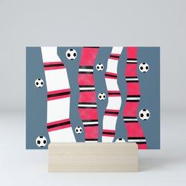 Mancunian Soccer (Football) Scarves Mini Art Print