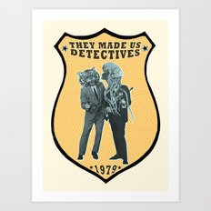 They Made Us Detectives (1979) - REMiX Art Print