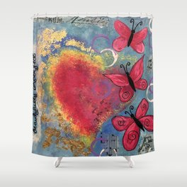 Beautifully Imperfect Shower Curtain