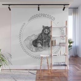 Depressed Weirdo Fox Wall Mural