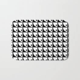 Mod Pattern 1in Black and White Bath Mat