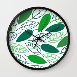 Leaves falling Wall Clock