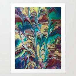 Flowery Sail Art Print