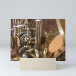Saxophone detail Mini Art Print