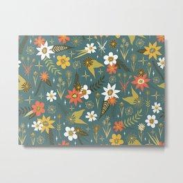 bright fun floral pattern Metal Print