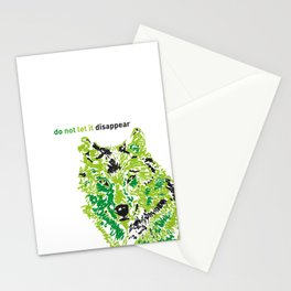 Wolf - do not let it disappear Stationery Cards