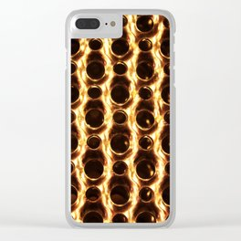 Fire and metal Clear iPhone Case