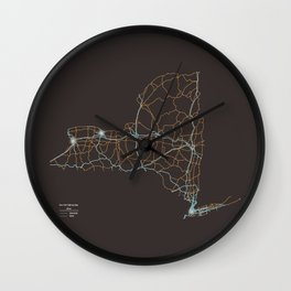 New York Highways Wall Clock