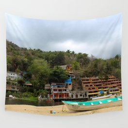 Dreamy Mexican Beach Day Wall Tapestry