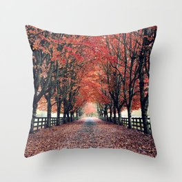 Welcome Home to Fall Throw Pillow