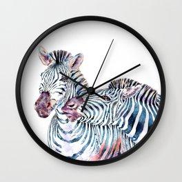 Punda Milia - African Zebras Wall Clock