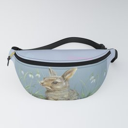 Little Spring Rabbit & Quote Fanny Pack