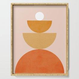 Abstraction Circles Balance Modern Minimalism 007 Serving Tray