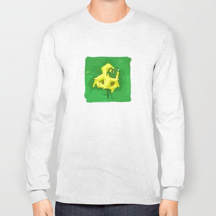 Three yellow Pentagons Long Sleeve T-shirt