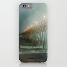 Kure Beach NC Fishing Pier at Night Painterly iPhone 6s Slim Case