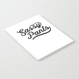 Classic Sassy Pants Humor Attitude Novelty Notebook