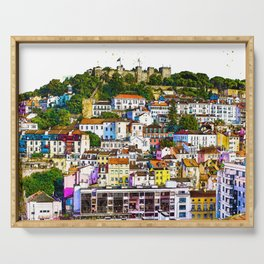 The Colorful Cliffs of Lisbon Serving Tray