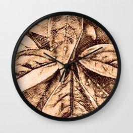 Warm Toned Sepia Sketcing Wall Clock