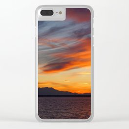 marvellous sunset over the sea Clear iPhone Case