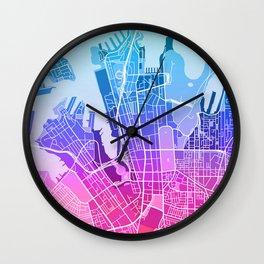 Sydney Map (Colour Gradient) Wall Clock