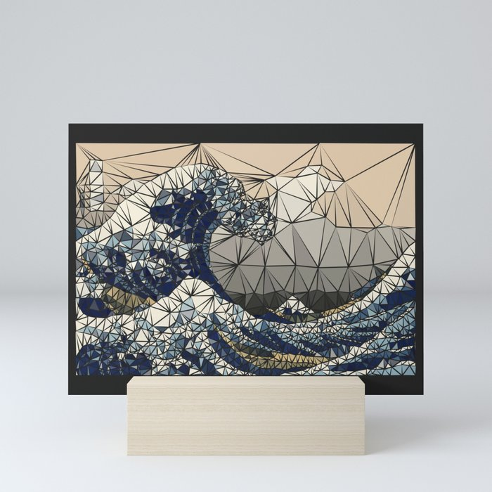 Lowpoly - The great wave of K Mini Art Print