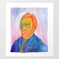 van gogh Art Prints featuring Van  Gogh by gunberk
