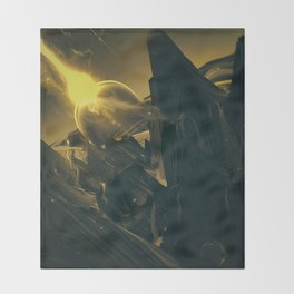 BLACK DX GOKUWAVE M816 Throw Blanket