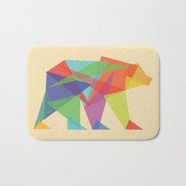 Fractal Geometric bear Bath Mat