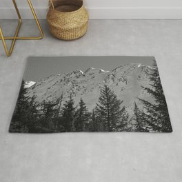 Gwin's Winter Vista - B & W Rug