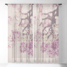 Purple Wisteria Dreams Sheer Curtain