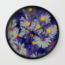 flowers klimt style Wall Clock