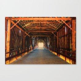 Into the Light Honey Run Bridge Canvas Print
