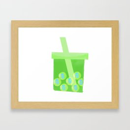 Bubble Skull Tea Framed Art Print