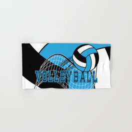 Volleyball Sport Game - Net - Baby Blue Hand & Bath Towel